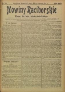 Nowiny Raciborskie, 1911, R. 23, nr 23
