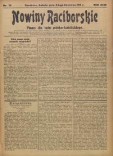 Nowiny Raciborskie, 1911, R. 23, nr 73