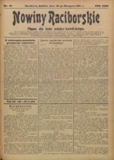 Nowiny Raciborskie, 1911, R. 23, nr 97