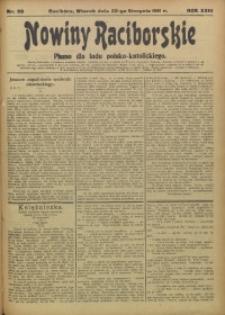 Nowiny Raciborskie, 1911, R. 23, nr 98