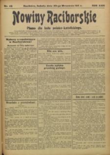 Nowiny Raciborskie, 1911, R. 23, nr 112