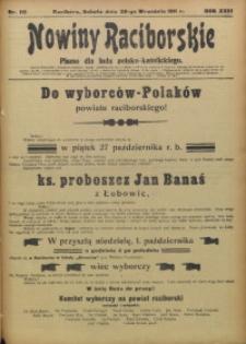 Nowiny Raciborskie, 1911, R. 23, nr 115