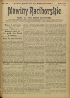 Nowiny Raciborskie, 1911, R. 23, nr 118