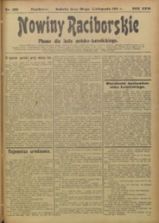 Nowiny Raciborskie, 1911, R. 23, nr 136