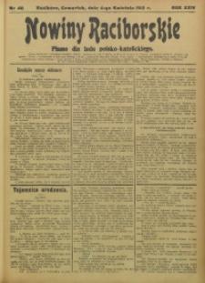 Nowiny Raciborskie, 1912, R. 24, nr 40