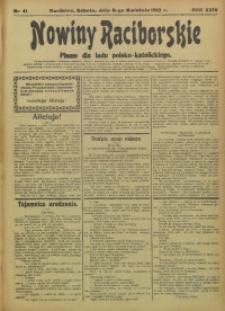 Nowiny Raciborskie, 1912, R. 24, nr 41