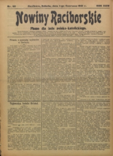 Nowiny Raciborskie, 1912, R. 24, nr 63