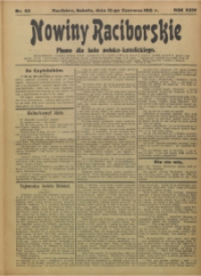 Nowiny Raciborskie, 1912, R. 24, nr 69