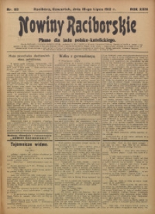 Nowiny Raciborskie, 1912, R. 24, nr 83