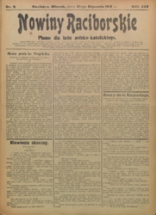 Nowiny Raciborskie, 1913, R. 25, nr 9
