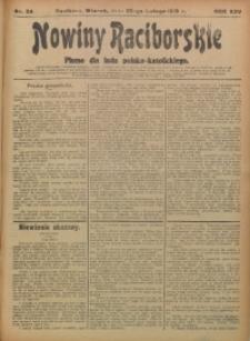 Nowiny Raciborskie, 1913, R. 25, nr 24