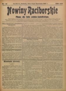 Nowiny Raciborskie, 1913, R. 25, nr 40