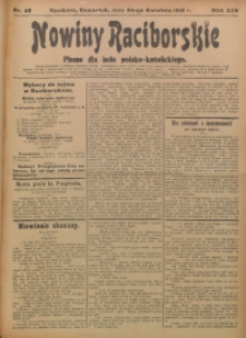 Nowiny Raciborskie, 1913, R. 25, nr 48