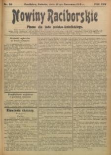 Nowiny Raciborskie, 1913, R. 25, nr 69