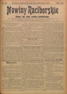 Nowiny Raciborskie, 1913, R. 25, nr 110