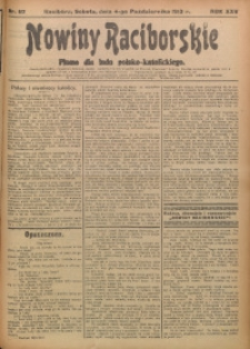 Nowiny Raciborskie, 1913, R. 25, nr 117