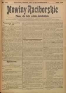 Nowiny Raciborskie, 1913, R. 25, nr 142