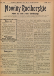 Nowiny Raciborskie, 1913, R. 25, nr 147