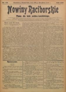 Nowiny Raciborskie, 1913, R. 25, nr 149