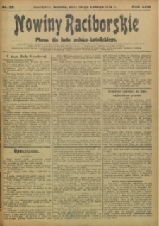 Nowiny Raciborskie, 1914, R. 26, nr 20
