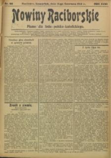Nowiny Raciborskie, 1914, R. 26, nr 68