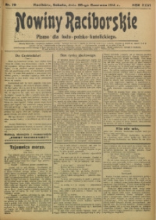 Nowiny Raciborskie, 1914, R. 26, nr 72