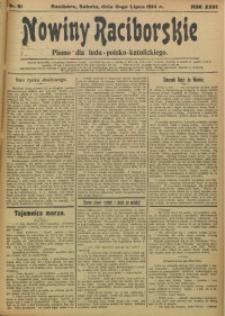 Nowiny Raciborskie, 1914, R. 26, nr 81