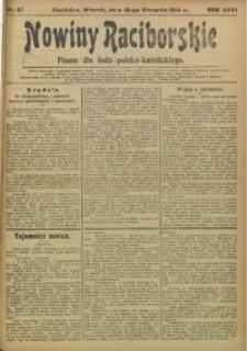 Nowiny Raciborskie, 1914, R. 26, nr 97