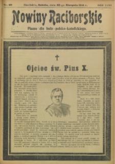 Nowiny Raciborskie, 1914, R. 26, nr 99