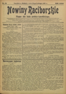 Nowiny Raciborskie, 1915, R. 27, nr 16