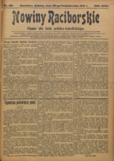 Nowiny Raciborskie, 1915, R. 27, nr 128