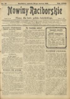 Nowiny Raciborskie, 1916, R. 28, nr 37
