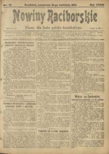 Nowiny Raciborskie, 1916, R. 28, nr 45