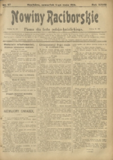 Nowiny Raciborskie, 1916, R. 28, nr 57