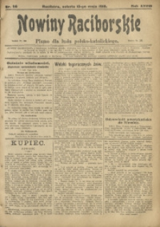 Nowiny Raciborskie, 1916, R. 28, nr 58