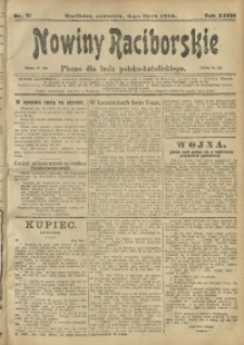 Nowiny Raciborskie, 1916, R. 28, nr 81