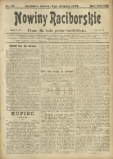 Nowiny Raciborskie, 1916, R. 28, nr 95