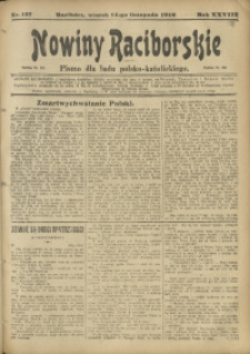Nowiny Raciborskie, 1916, R. 28, nr 137