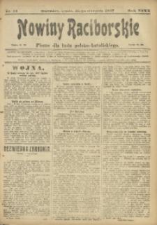 Nowiny Raciborskie, 1917, R. 29, nr 14