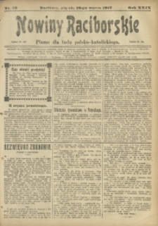 Nowiny Raciborskie, 1917, R. 29, nr 33