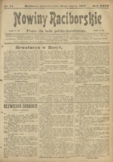 Nowiny Raciborskie, 1917, R. 29, nr 34