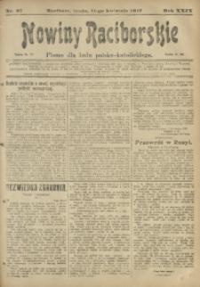 Nowiny Raciborskie, 1917, R. 29, nr 43