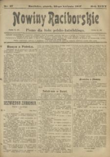 Nowiny Raciborskie, 1917, R. 29, nr 47