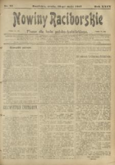 Nowiny Raciborskie, 1917, R. 29, nr 58