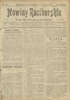 Nowiny Raciborskie, 1917, R. 29, nr 77