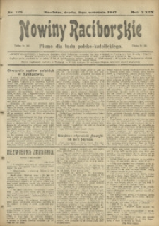 Nowiny Raciborskie, 1917, R. 29, nr 105