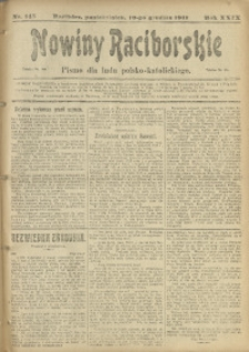 Nowiny Raciborskie, 1917, R. 29, nr 145