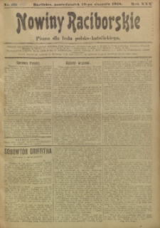 Nowiny Raciborskie, 1918, R. 30, nr 100
