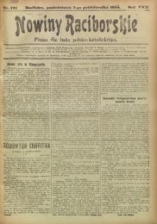 Nowiny Raciborskie, 1918, R. 30, nr 121