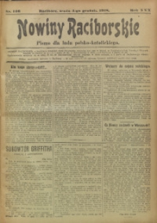 Nowiny Raciborskie, 1918, R. 30, nr 146
